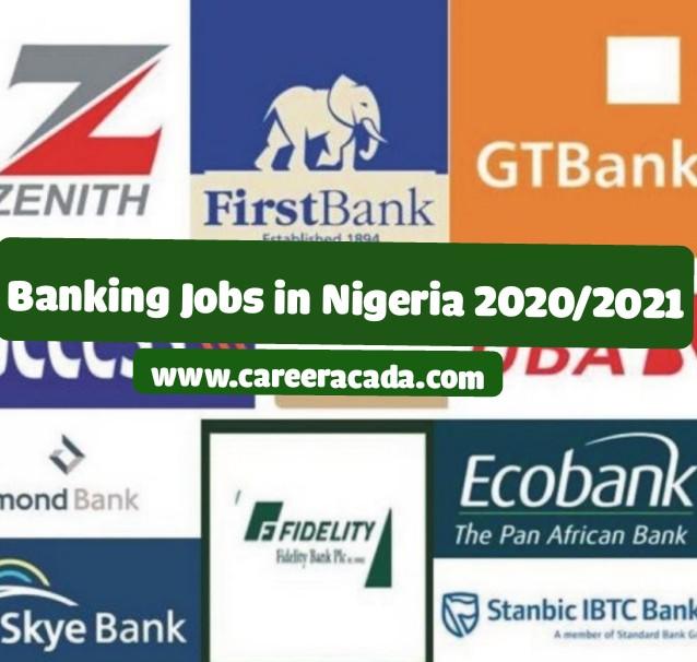 banking jobs in Nigeria 2020/2021